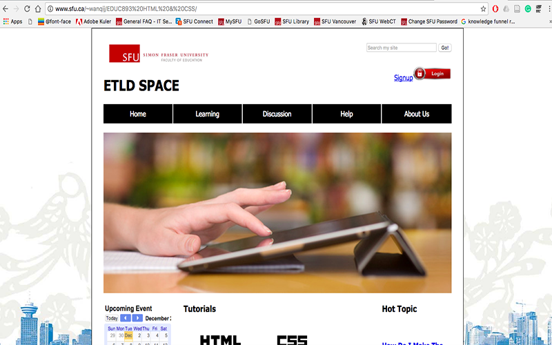 Online Community of Practice – ETLD Space