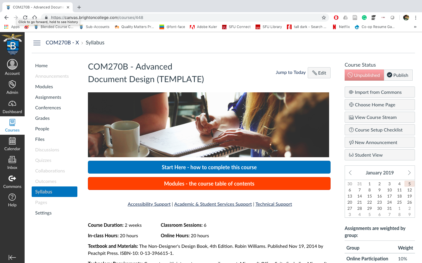 COM270B Advanced Document Design (Blended)